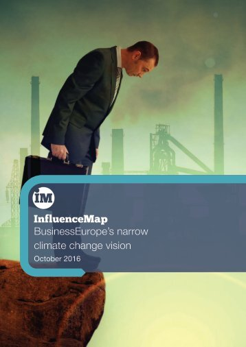 BusinessEurope's narrow climate change vision