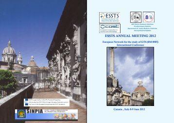 ESSTS ANNUAL MEETING 2012