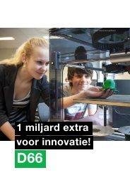 1 miljard extra voor innovatie!