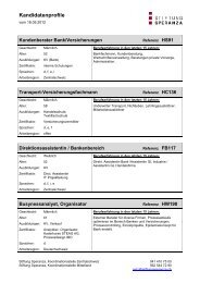 Kandidatenprofile - Stiftung Speranza