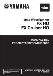 Yamaha FX HO - 2012 - Manuale d'Istruzioni Italiano