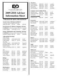 2009-2010 Adviser Information Sheet