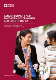 GENDER EQUALITY AND EMPOWERMENT OF WOMEN AND GIRLS IN THE UK