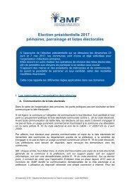 Election présidentielle 2017  primaires parrainage et listes électorales