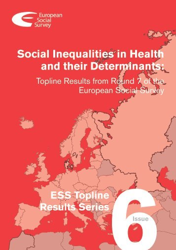 Social Inequalities in Health and their Determinants