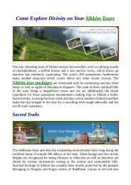 Classical Sikkim Tour Packages.