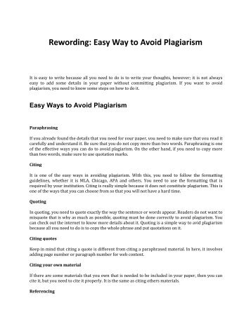 Best Ways to Avoid Plagiarism in Your Paper