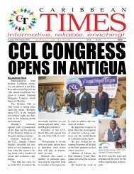 Caribbean Times 22nd Issue - Tuesday 25th October 2016