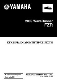 Yamaha FZR SVHO - 2009 - Manuale d'Istruzioni GR
