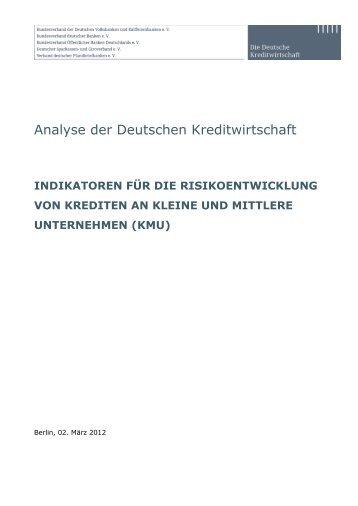 Analyse der Deutschen Kreditwirtschaft - Die Deutsche Kreditwirtschaft
