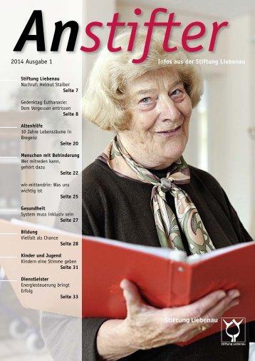 Anstifter 1, 2014 der Stiftung Liebenau