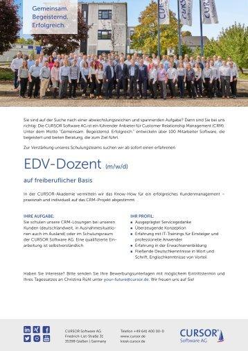 EDV-Dozent (m/w) Stellenanzeige