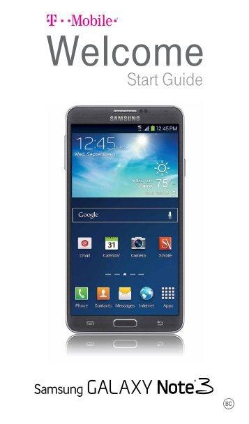 Samsung Galaxy Note 3 32GB (T-Mobile) - SM-N900TZKETMB - Quick Start Guide ver. NA8_F2 (ENGLISH(North America),13.12 MB)
