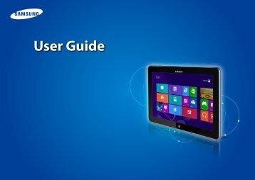 "Samsung ATIV Tab 5 (11.6"" LED HD Touch) - XE500T1C-K02US - User Manual (Windows 8) ver. 2.4 (ENGLISH,16.47 MB)"