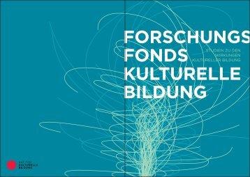 FORSCHUNGS FONDS KULTURELLE BILDUNG