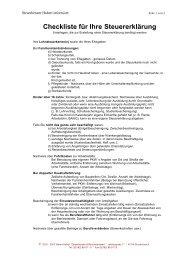 Checkliste für Ihre Steuererklärung