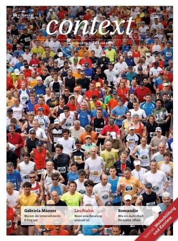 Nr. 8 / August 2011 - Laufbahn (PDF, 7189 kb - KV Schweiz