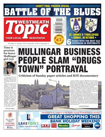 Westmeath Topic - 27 October 2016