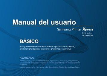 Samsung Printer Xpress C430W - SL-C430W/XAA - User Manual ver. 1.02 (SPANISH,10.0 MB)