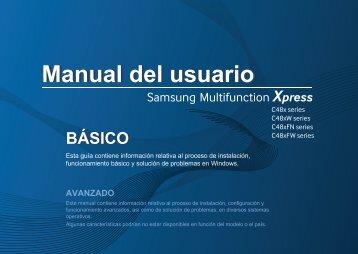 Samsung Printer Xpress C480FW - SL-C480FW/XAA - User Manual ver. 1.0 (SPANISH,17.64 MB)