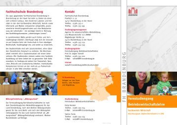 F H B R A N D E N B U R G - Fachhochschule Brandenburg