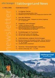 Nummer 9/2005 - SalzburgerLand Netoffice