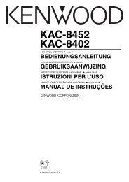 Kenwood KAC-8452 - Car Electronics German, Dutch, Italian, Portugal (2004/11/30)