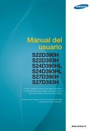 """Samsung Samsung Simple LED 23.6"""" monitor with Black w/ Blue ToC Finish - LS24D390HL/ZA - User Manual ver. 1.0 (SPANISH,4.1 MB)"""