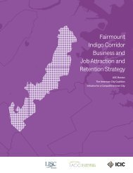 Fairmount Indigo Corridor Business and Job Attraction and Retention Strategy