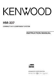 Kenwood HM-337 - Home Electronics English (2004/5/26)