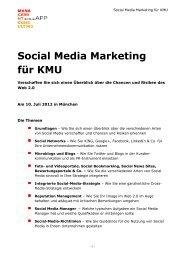 Social Media Marketing für KMU - Sonja App Management Consulting