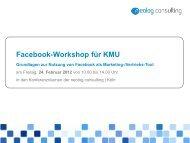 Facebook-Workshop für KMU - neolog consulting