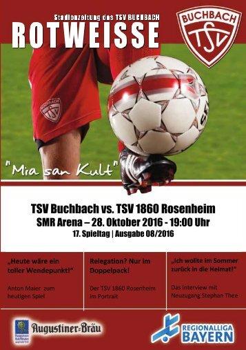 Stadionzeitung TSV Buchbach - TSV 1860 Rosenheim