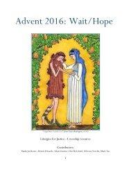 Advent 2016 Wait/Hope