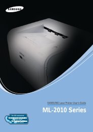 Samsung ML-2010 - ML-2010/XAA - User Manual (ENGLISH)