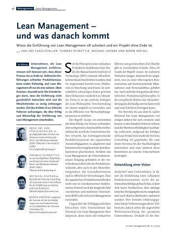 Lean Management - Alexandria - Universität St.Gallen
