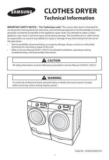 section 9 dryer control rh yumpu com Samsung Steam Dryer Manual Samsung Gas Dryer Manual
