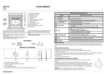 KitchenAid OV B32 G - Oven - OV B32 G - Oven FR (857923129000) Scheda programmi