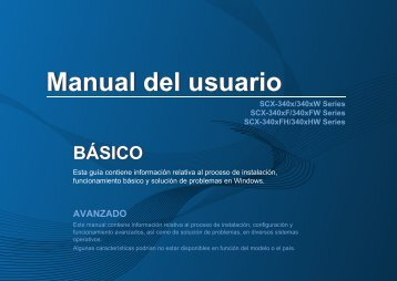 Samsung Black & White Laser Multifunction Printer - 21 PPM - SCX-3405FW/XAA - User Manual ver. 1.03 (SPANISH,11.78 MB)