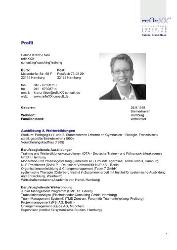 Profil - reflexx consulting coaching training