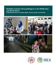 Disability Inclusion Among Refugees in the Middle East and North Africa