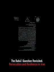 The Bahá'í Question Revisited Persecution and Resilience in Iran