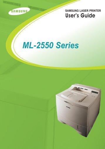 Samsung ML-2550 - ML-2550/XAA - User Manual ver. 8.00 (ENGLISH,7.75 MB)