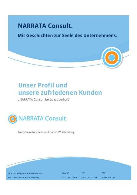 Profil – Referenzen - NARRATA Consult