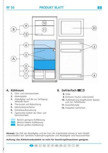 KitchenAid DPA 200/G/1 - Fridge/freezer combination - DPA 200/G/1 - Fridge/freezer combination DE (853938538010) Scheda programmi
