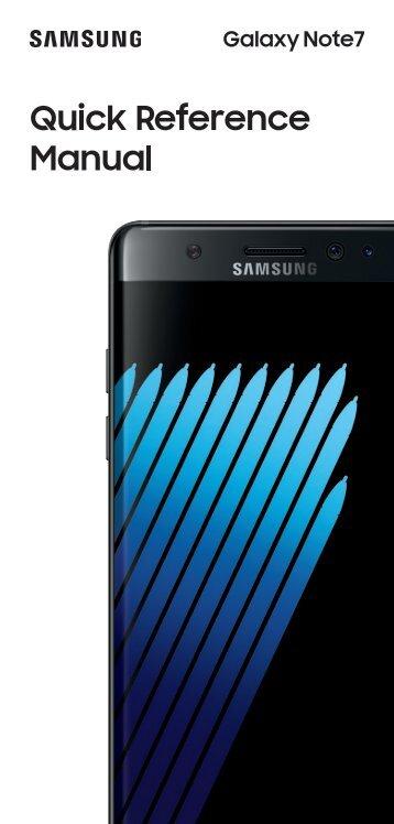 Samsung Galaxy Note7 64GB (C Spire) - SM-N930RZKACSP - Quick Start Guide (ENGLISH(North America))