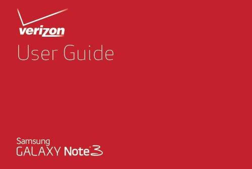 Samsung Galaxy Note 3 32GB (Verizon) - SM-N900VZKEVZW - User Manual (ENGLISH(North America))