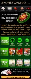 Play Online Casino Games at Sports Casino.Club