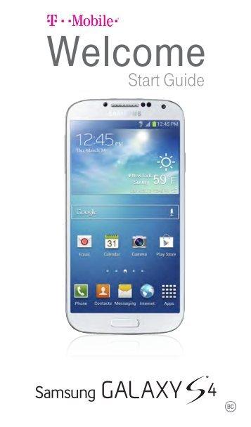 Samsung Galaxy S4 16GB (T-Mobile) - SGH-M919ZKATMB - Quick Guide ver. MJC_F3 (ENGLISH(North America),11.8 MB)