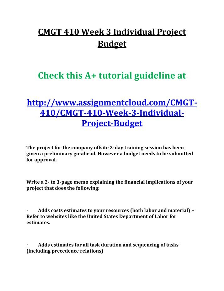 cmgt 410 Here is the best resource for homework help with cmgt 410 : cmgt/410 at university of phoenix find cmgt410 study guides, notes, and practice tests from.